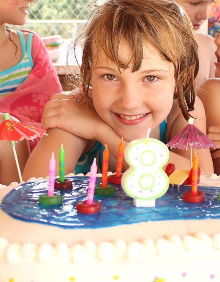 Eliza with cake
