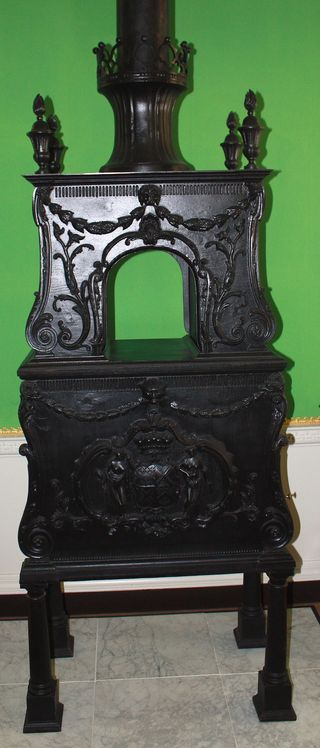 Stove in ballroom area