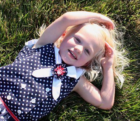 Hazel in grass