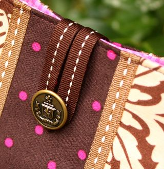 Brown clutch detail