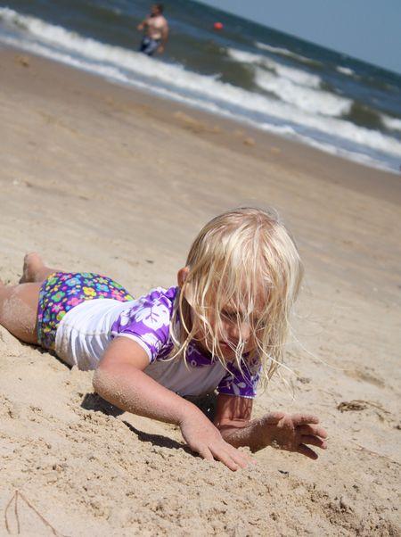 Hazel in sand