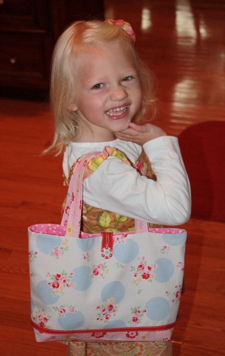 Hazel's preschool bag