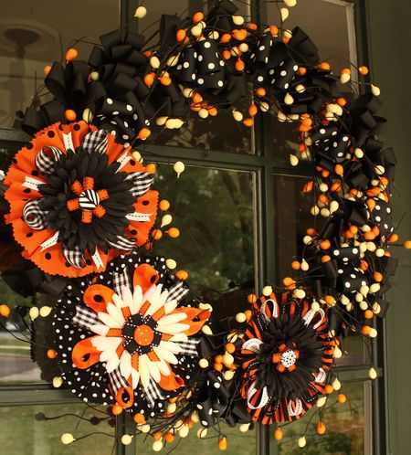 Flower bow wreath