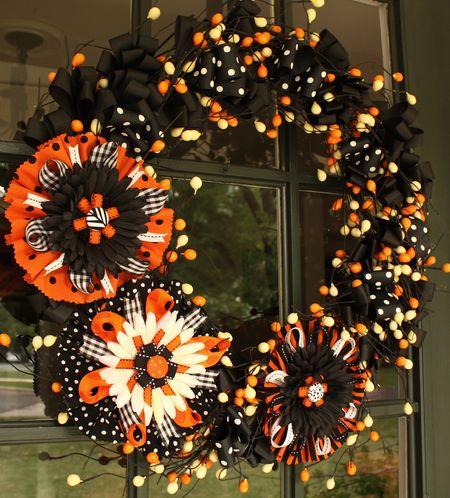 Flower bow wreath
