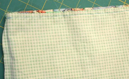 Sew top seam