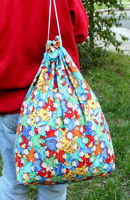 Sewing For Orphans Project = Large Drawstring Bag Tutorial - 7 ...