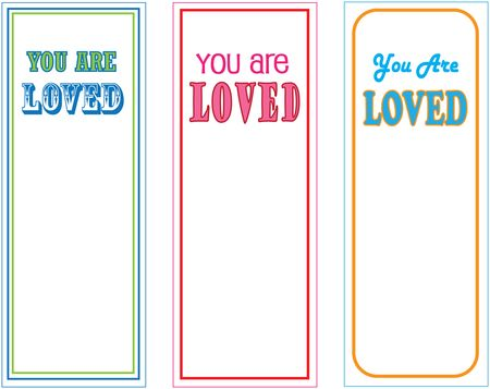 You Are Loved bookmarks