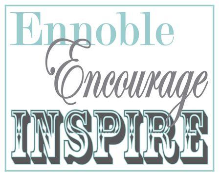 Ennoble Encourage Inspire 8x10 grey blue