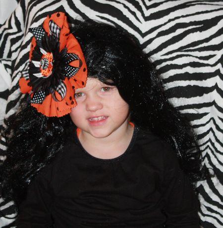 Hazel with wig