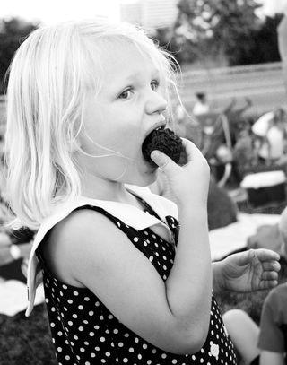 Hazel-with-cupcake-bw