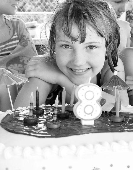 Eliza-with-cake-bw