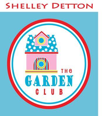 Garden-Club-logos,-striped-door