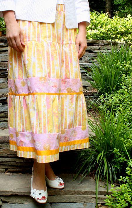 Yellow pink skirt