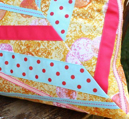 Pillow ribbons detail blog