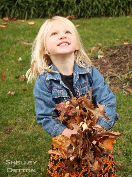 Hazel-holding-leaves