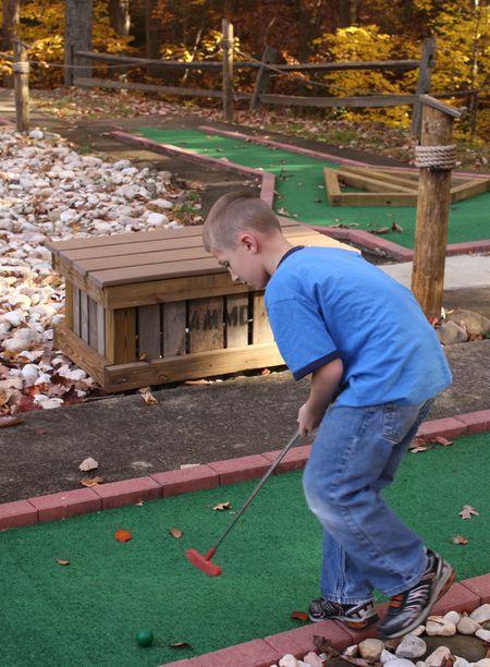 Hyrum golfing