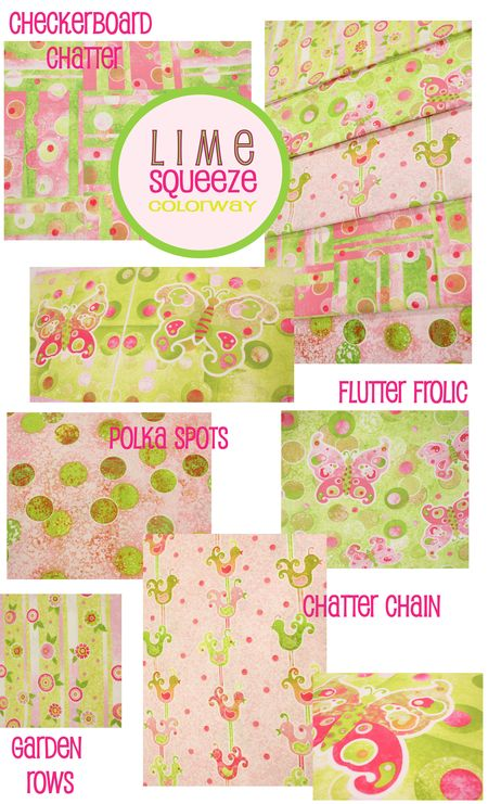 Lime Squeeze page of prints