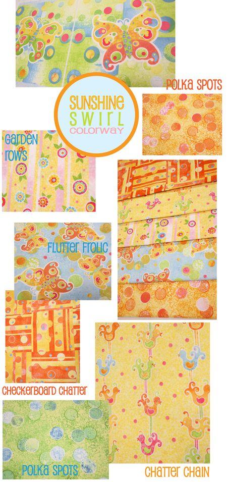 Sunshine Swirl page of prints