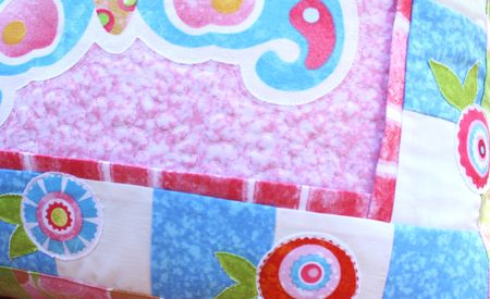 Pillow detail flowers blog