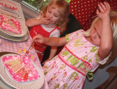 Hazel squishing cake