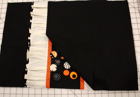 Button pillow backing