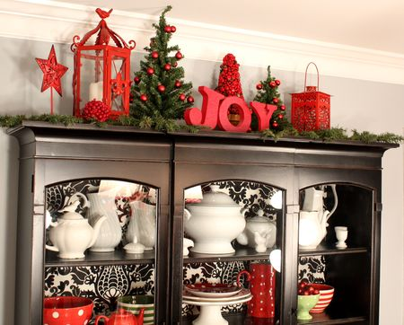 A visual christmas feast 7 layer studio for Christmas decorating above kitchen cabinets