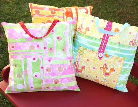 Pillow packs back and front