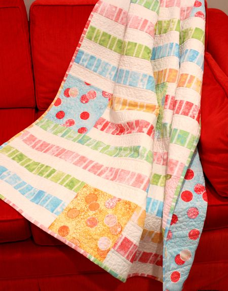 Quilt on sofa