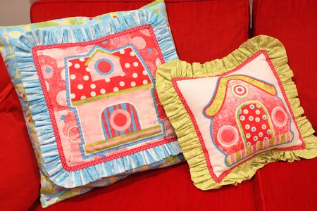 Birdhouse pillows