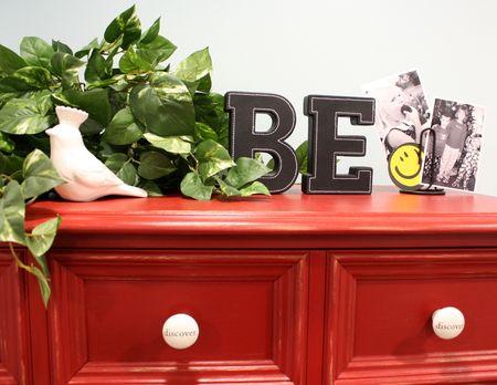 Red dresser