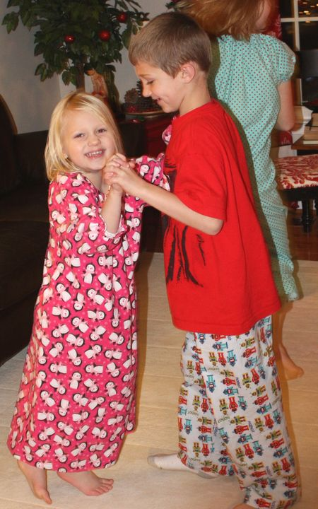 Hazel and Hyrum dancing