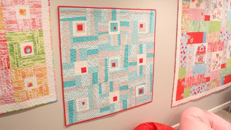 Quilts on wall