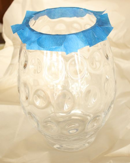Glass vase before paint
