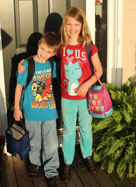 Kids 1st day of school