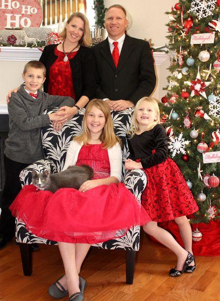 Christmas photo 2012 v.2 blurred background