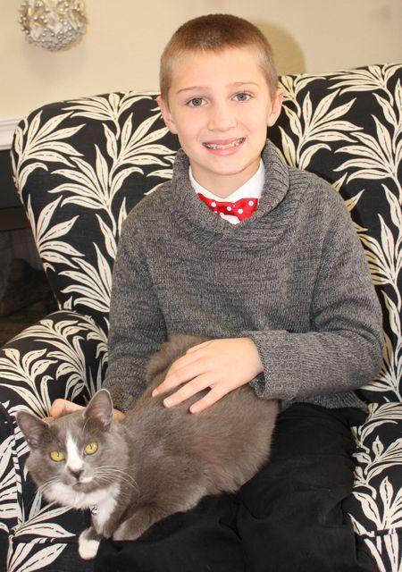 Hyrum and kitty