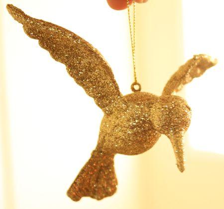 Hummingbird ornament before