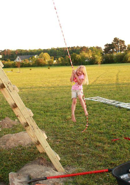 Hazel on rope