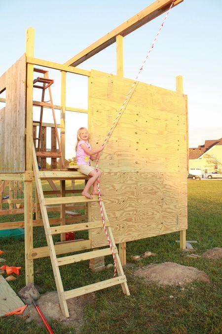 Hazel on ladder