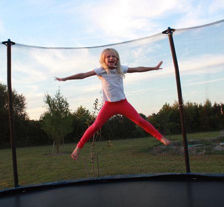 Hazel on trampoline