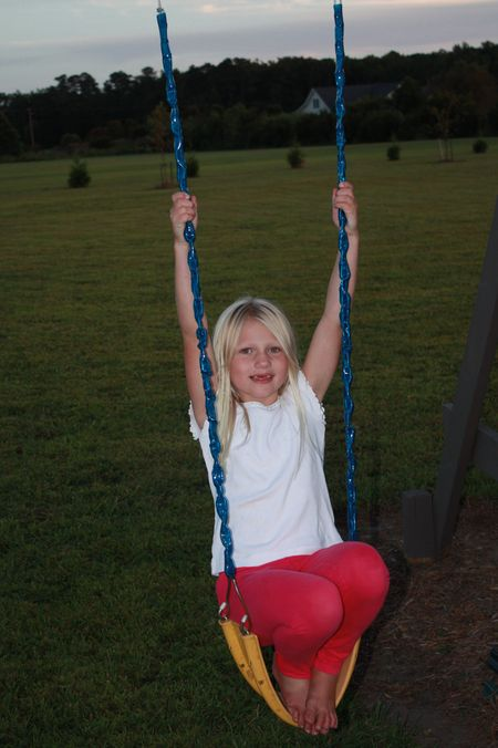 Hazel on swing