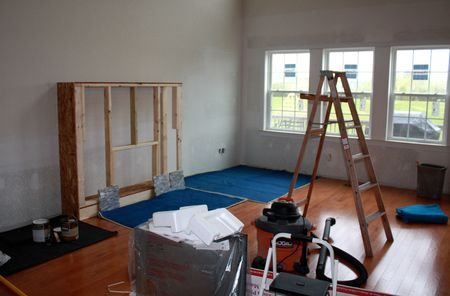 Great room in transition