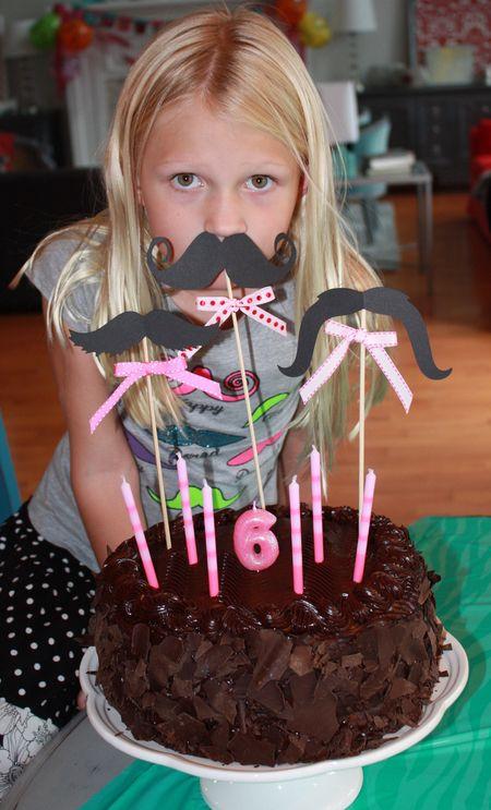 Hazel with cake