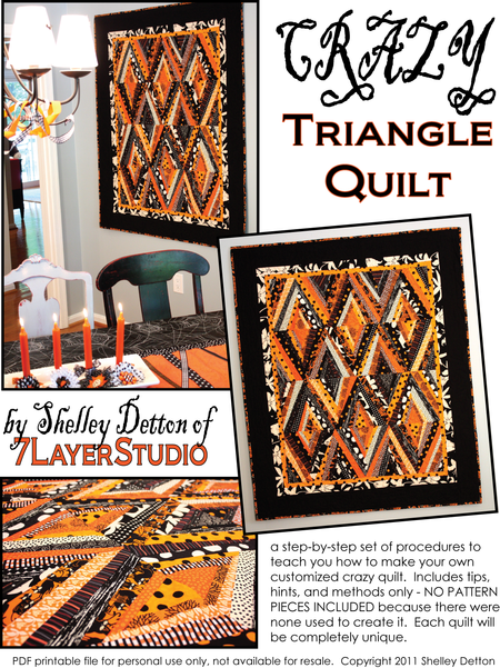 Crazy Triangle quilt instructions title page