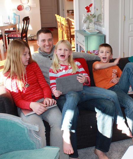 Kids with John