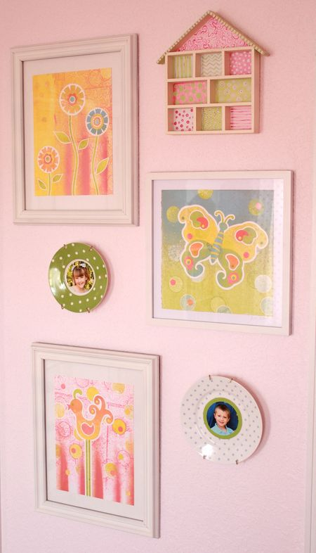 Hazel's art wall