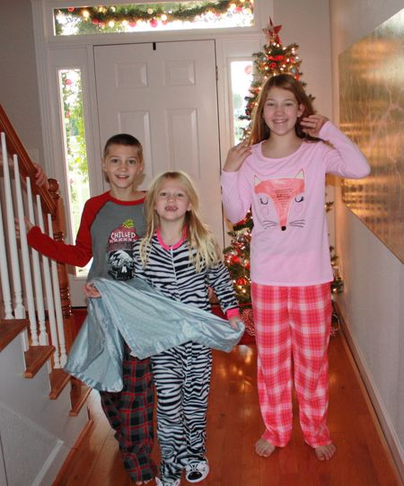 Kids on Christmas morning