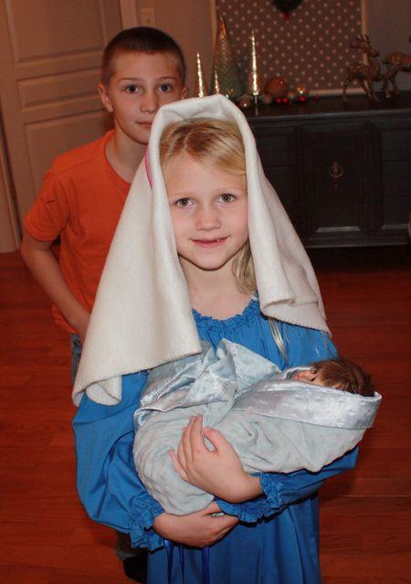 Hazel as Mary