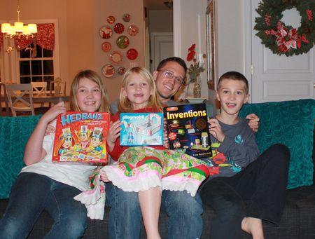 John with 3 kids