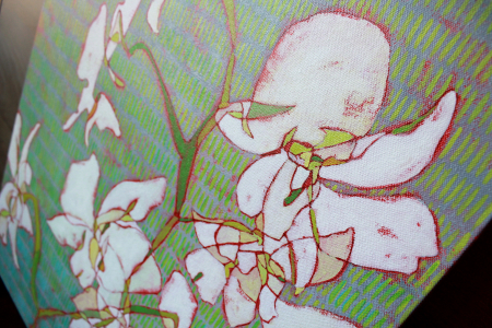 White Orchids detail